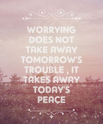 worrying does ot