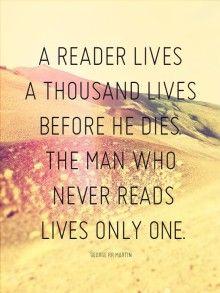 a reader lives